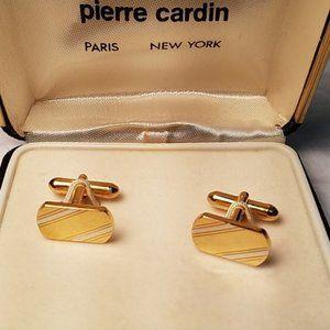 Vintage Pierre Cardin Two Tone Cuff Links